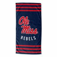 Mississippi Rebels Stripes Beach Towel