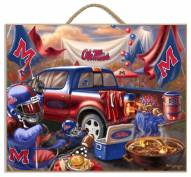 Mississippi Rebels Tailgate Plaque