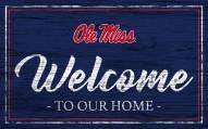Mississippi Rebels Team Color Welcome Sign