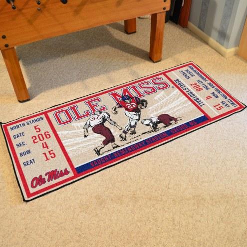 Mississippi Rebels Ticket Runner Rug