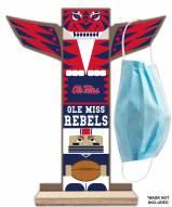 Mississippi Rebels Totem Mask Holder