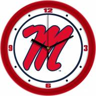 Mississippi Rebels Traditional Wall Clock