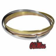 Mississippi Rebels Tri-color Bangle Bracelet