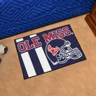 Mississippi Rebels Uniform Inspired Starter Rug
