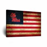 Mississippi Rebels Vintage Flag Canvas Wall Art