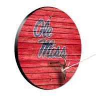Mississippi Rebels Weathered Design Hook & Ring Game