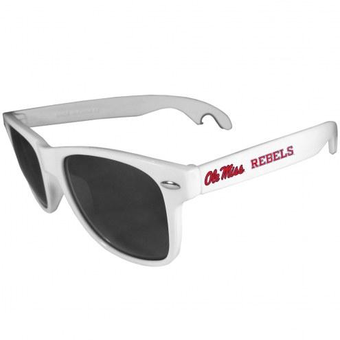 Mississippi Rebels White Beachfarer Bottle Opener Sunglasses