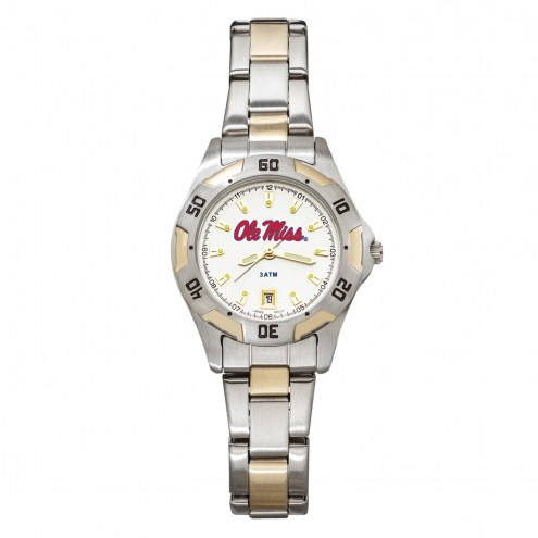 Mississippi Rebels Women's All-Pro Two-Tone Watch