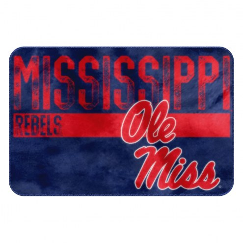 Mississippi Rebels Worn Out Bath Mat