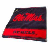 Mississippi Rebels Woven Golf Towel