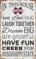 """Mississippi State Bulldogs 11"""" x 19"""" In This House Sign"""
