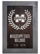 "Mississippi State Bulldogs 11"" x 19"" Laurel Wreath Framed Sign"