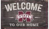 """Mississippi State Bulldogs 11"""" x 19"""" Welcome to Our Home Sign"""