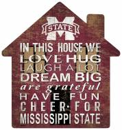 """Mississippi State Bulldogs 12"""" House Sign"""