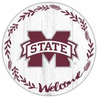 """Mississippi State Bulldogs 12"""" Welcome Circle Sign"""