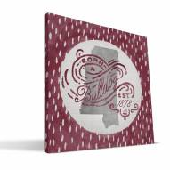 "Mississippi State Bulldogs 12"" x 12"" Born a Fan Canvas Print"