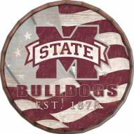 "Mississippi State Bulldogs 16"" Flag Barrel Top"