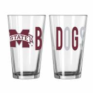 Mississippi State Bulldogs 16 oz. Overtime Pint Glass