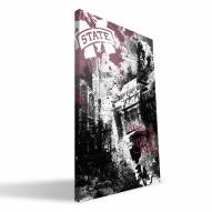 "Mississippi State Bulldogs 16"" x 24"" Spirit Canvas Print"