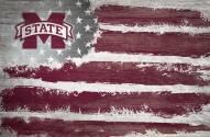 "Mississippi State Bulldogs 17"" x 26"" Flag Sign"