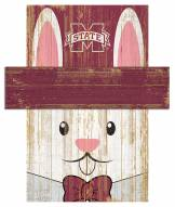 """Mississippi State Bulldogs 19"""" x 16"""" Easter Bunny Head"""