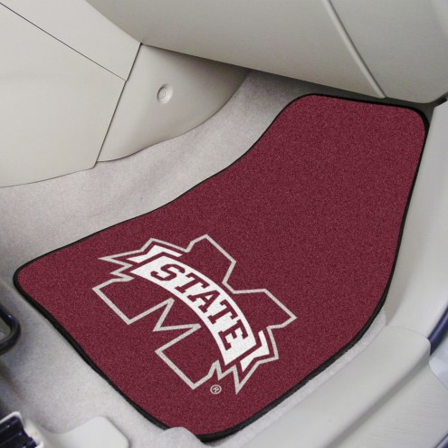 Mississippi State Bulldogs 2-Piece Carpet Car Mats