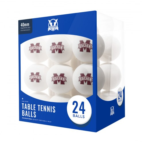 Mississippi State Bulldogs 24 Count Ping Pong Balls