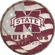 "Mississippi State Bulldogs 24"" Flag Barrel Top"