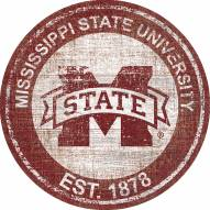 """Mississippi State Bulldogs 24"""" Heritage Logo Round Sign"""