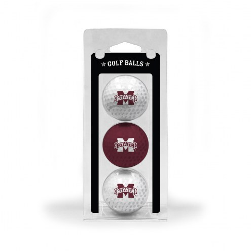 Mississippi State Bulldogs 3 Pack of Golf Balls