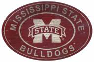 """Mississippi State Bulldogs 46"""" Heritage Logo Oval Sign"""