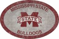 """Mississippi State Bulldogs 46"""" Team Color Oval Sign"""