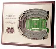 Mississippi State Bulldogs 5-Layer StadiumViews 3D Wall Art