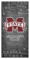 """Mississippi State Bulldogs 6"""" x 12"""" Chalk Playbook Sign"""