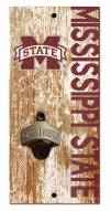 """Mississippi State Bulldogs 6"""" x 12"""" Distressed Bottle Opener"""