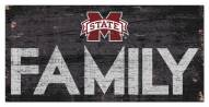 """Mississippi State Bulldogs 6"""" x 12"""" Family Sign"""