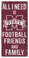 """Mississippi State Bulldogs 6"""" x 12"""" Friends & Family Sign"""