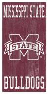 """Mississippi State Bulldogs 6"""" x 12"""" Heritage Logo Sign"""
