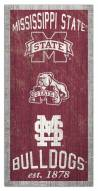 """Mississippi State Bulldogs 6"""" x 12"""" Heritage Sign"""