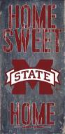"""Mississippi State Bulldogs 6"""" x 12"""" Home Sweet Home Sign"""
