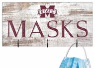 """Mississippi State Bulldogs 6"""" x 12"""" Mask Holder"""