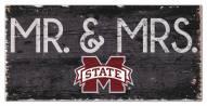 "Mississippi State Bulldogs 6"" x 12"" Mr. & Mrs. Sign"