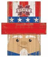 "Mississippi State Bulldogs 6"" x 5"" Patriotic Head"
