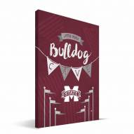 "Mississippi State Bulldogs 8"" x 12"" Little Man Canvas Print"