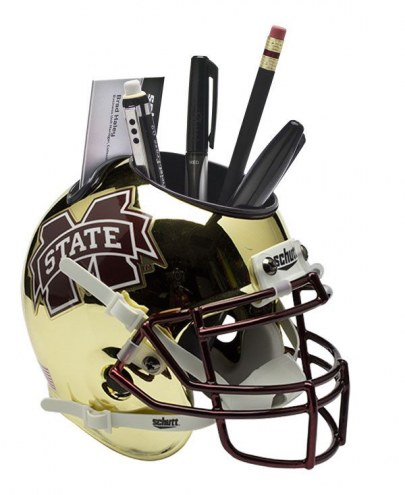 Mississippi State Bulldogs Alternate 3 Schutt Football Helmet Desk Caddy