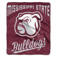 Mississippi State Bulldogs Alumni Raschel Throw Blanket