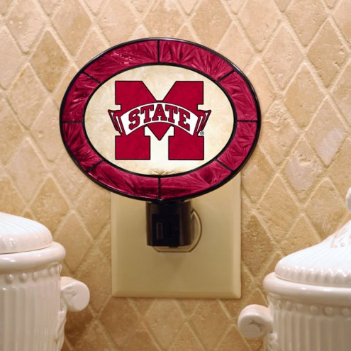 Mississippi State Bulldogs Art Glass Night Light