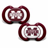 Mississippi State Bulldogs Baby Pacifier 2-Pack
