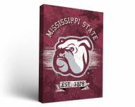 Mississippi State Bulldogs Banner Canvas Wall Art