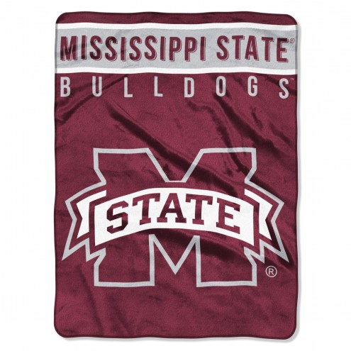 Mississippi State Bulldogs Basic Plush Raschel Blanket